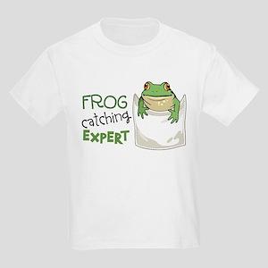 Frog Catching Expert Kids Light T-Shirt