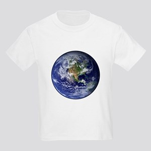 Western Earth from Space Kids Light T-Shirt