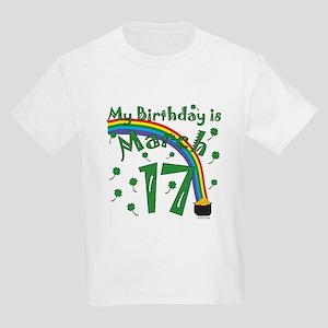 St. Patrick's Day March 17th Birthday Kids Light T