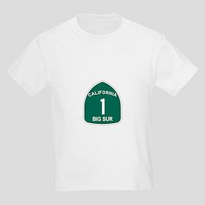 Big Sur, California Highway 1 Kids Light T-Shirt