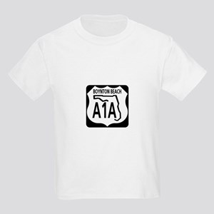 A1A Boynton Beach Kids Light T-Shirt