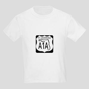 A1A Fort Lauderdale Kids Light T-Shirt