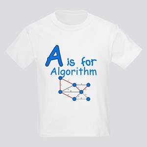 A is for Algorithm Kids Light T-Shirt