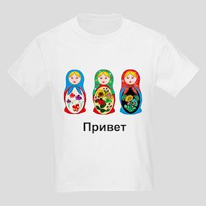 Hello-goodbye Nesting Dolls Kids Light T-Shirt
