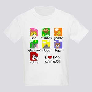 I Love Zoo Animals Kids Light T-Shirt