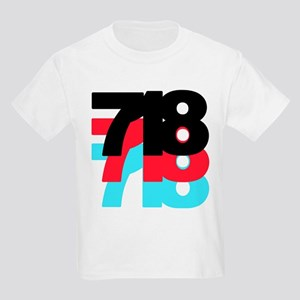 718 Area Code Kids Light T-Shirt
