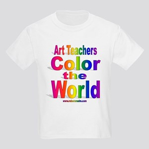Art Teachers Color the World Kids Light T-Shirt