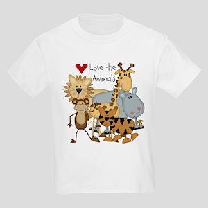 Love the Animals Kids Light T-Shirt