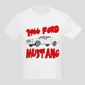 1966 Ford Mustang Kids Light T-Shirt