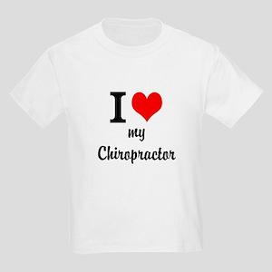 I Love My Chiropractor Kids Light T-Shirt