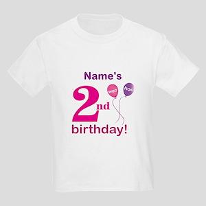 Custom 2nd Birthday Girl Kids Light T-Shirt