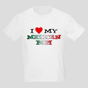 I Love Mexican Papi Kids Light T-Shirt