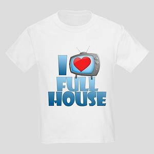 I Heart Full House Kids Light T-Shirt
