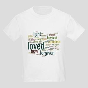 Who I am in Christ Teal Kids Light T-Shirt