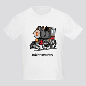 Personalized Train Engine Kids Light T-Shirt