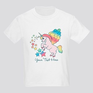 Unicorn Rainbow Star Kids Light T-Shirt