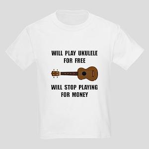 Ukulele Playing Kids Light T-Shirt