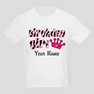 Birthday Girl Zebra Kids Light T-Shirt