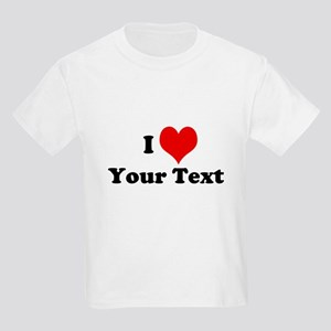 Customized I Love Heart Kids Light T-Shirt