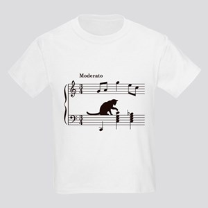 Cat Toying with Note v.2 Kids Light T-Shirt