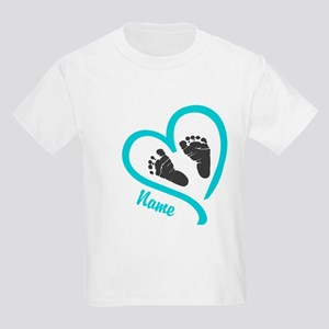 Baby Heart Blue Personalized T-Shirt