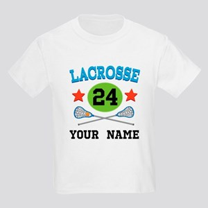Lacrosse Player Personalized Kids Light T-Shirt