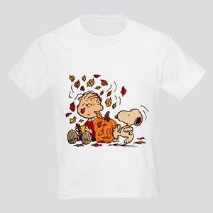Fall Peanuts Kids Light T-Shirt