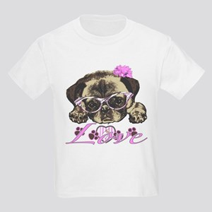 Pug in Pink. For any one that l Kids Light T-Shirt