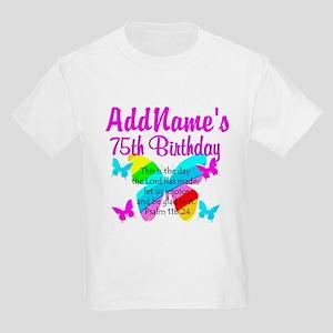 75TH BUTTERFLY Kids Light T-Shirt