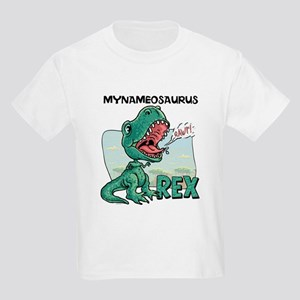 Personalizable T-Rex Kids Light T-Shirt