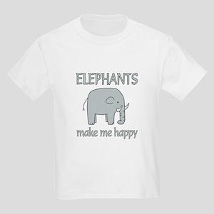 Elephant Happy Kids Light T-Shirt