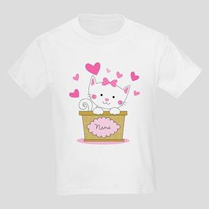 Personalized Kitty Love Kids Light T-Shirt