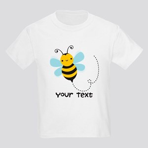 Personalzied Kid's Honey Bee, Black & Yellow T-Shi