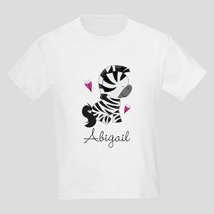 Zebra Animal Personalized Kids Light T-Shirt