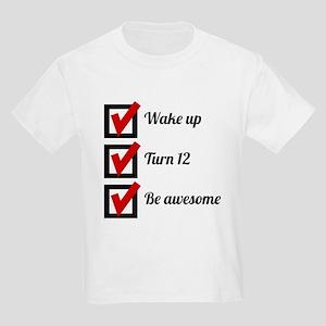 Awesome 12th Birthday Checklist T-Shirt