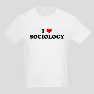 I Love SOCIOLOGY Kids Light T-Shirt