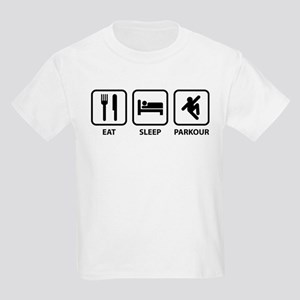 Eat Sleep Parkour Kids Light T-Shirt