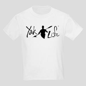 YakLife Logo Black Kids Light T-Shirt
