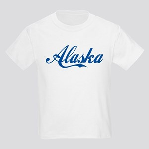 Alaska (cursive) Kids Light T-Shirt