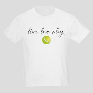 Live Love Play Tennis Kids Light T-Shirt