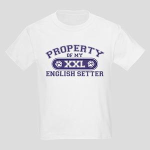 English Setter PROPERTY Kids Light T-Shirt