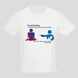 Breastfeeding Zombie Apocalypse Kids Light T-Shirt