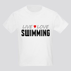 Live Love Swimming Kids Light T-Shirt