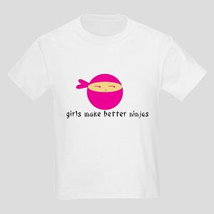 Girls Make Better Ninjas Kids Light T-Shirt