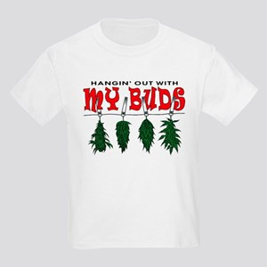 Hangin Out with My Buds Kids Light T-Shirt