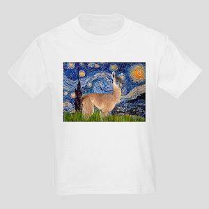 Starry Night Llama Kids Light T-Shirt