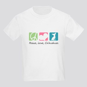Peace, Love, Chihuahuas Kids Light T-Shirt