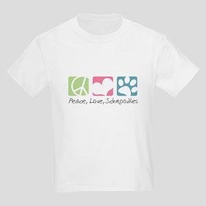 Peace, Love, Schnoodles Kids Light T-Shirt