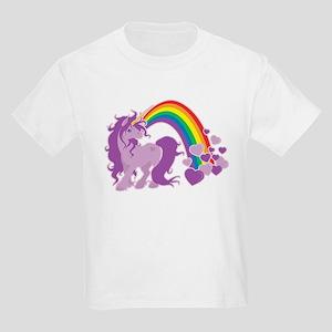 GIRLY UNICORN Kids Light T-Shirt