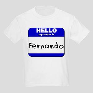 hello my name is fernando Kids Light T-Shirt